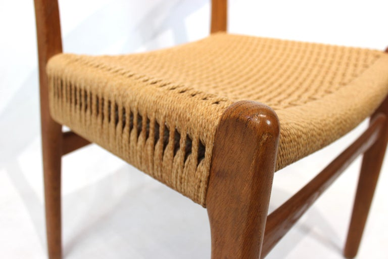 Mid-20th Century Set of 8 CH23 dining chairs by Hans Wegner and Carl Hansen & Son, 1950s For Sale