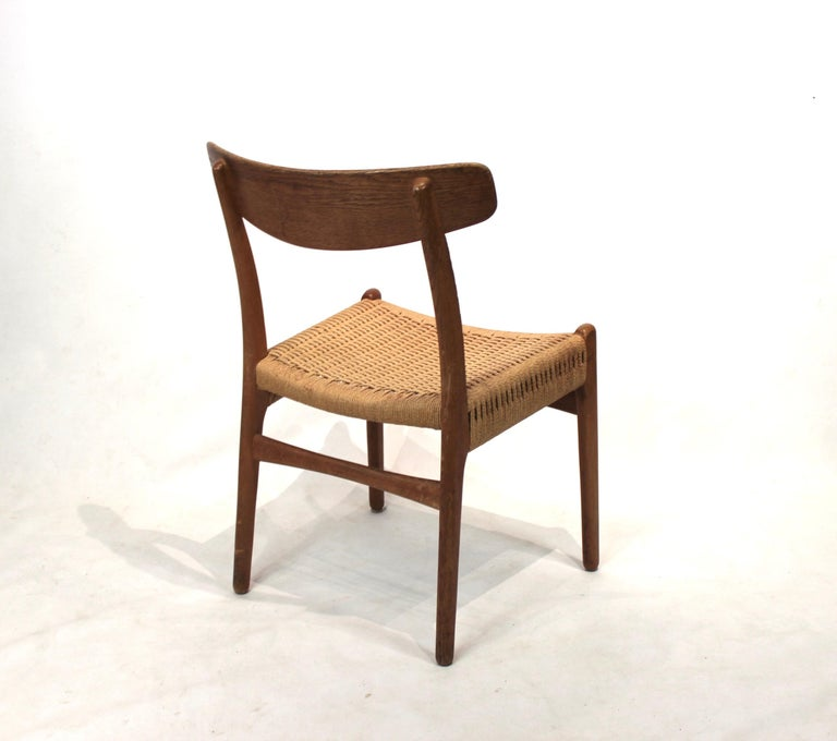 Set of 8 CH23 dining chairs by Hans Wegner and Carl Hansen & Son, 1950s For Sale 2