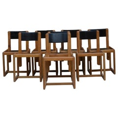 Set of 8 Chairs Andre Sornay