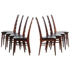 Set of 8 Chairs by Niels Koefoed in Rosewood Danish