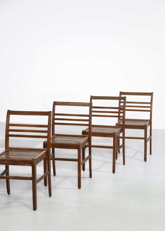 Set of 8 Chairs by René Gabriel, Vintage Oak, 1950s For Sale 5