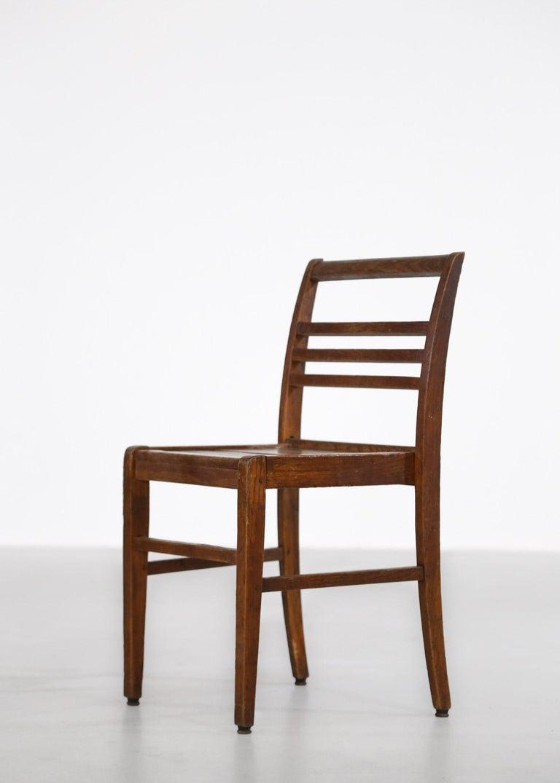 Set of 8 Chairs by René Gabriel, Vintage Oak, 1950s For Sale 3