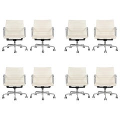 Set of 8 Charles Eames Aluminum Group Chairs