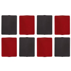 Set of 8 Charlotte Perriand 'Applique Á Volet Pivotant' Red & Black Wall Lights