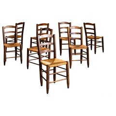 Charlotte Perriand Style Dining Chairs - Set of 8