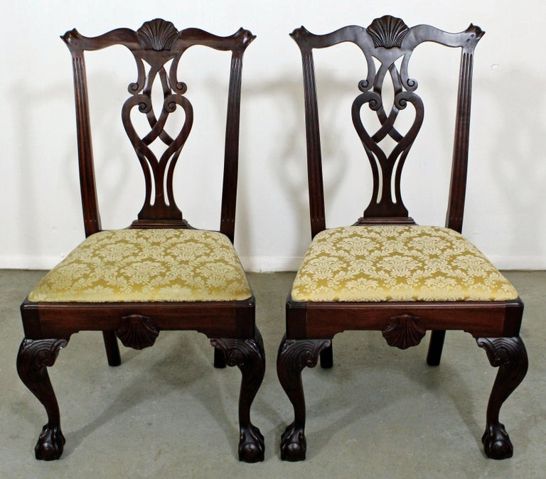 Chippendale Mahogany Dining Room Chairs: Set Of 8 Chippendale Ball And Claw Mahogany Dining Chairs