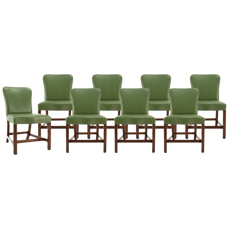Admirable Set Of 8 Chippendale Leather Dining Chairs By Rose Tarlow Melrose Hoiuse Gmtry Best Dining Table And Chair Ideas Images Gmtryco