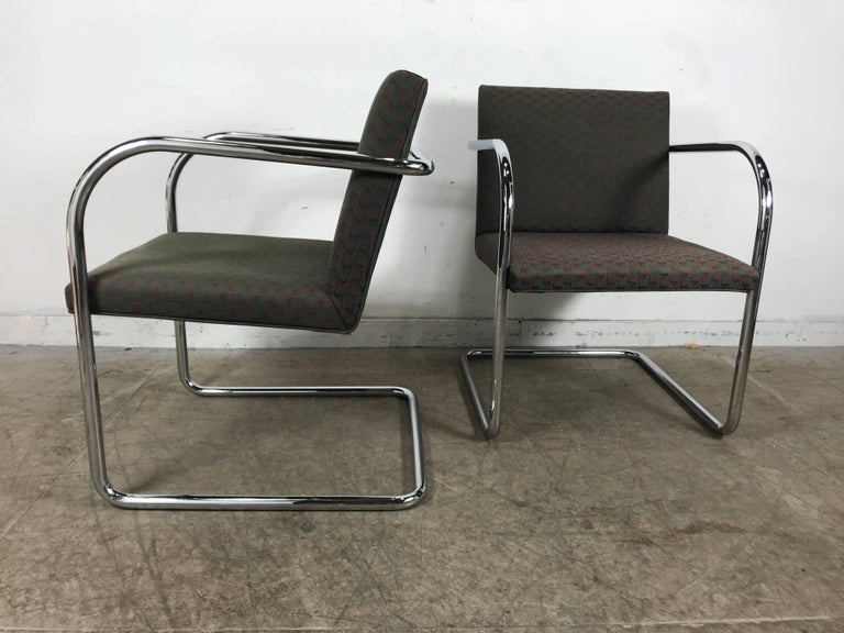 Bauhaus Set of Eight Chrome Brno Chairs by Mies Van Der Rohe for Thonet For Sale