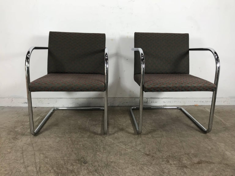 American Set of Eight Chrome Brno Chairs by Mies Van Der Rohe for Thonet For Sale