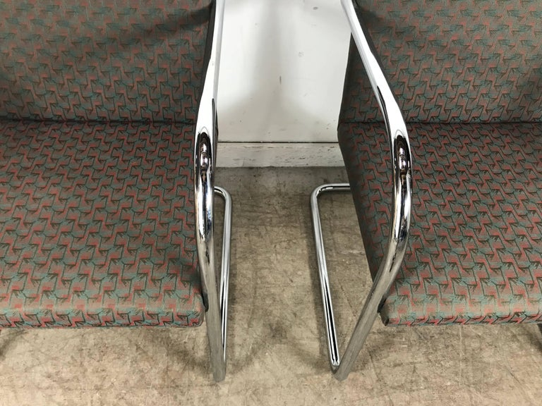 Set of Eight Chrome Brno Chairs by Mies Van Der Rohe for Thonet In Good Condition For Sale In Buffalo, NY