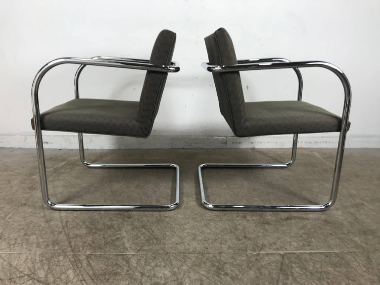 Late 20th Century Set of Eight Chrome Brno Chairs by Mies Van Der Rohe for Thonet For Sale