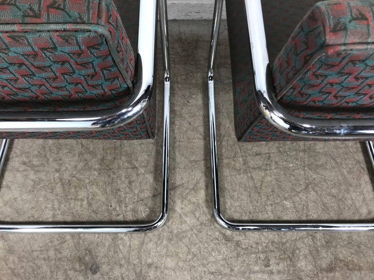Set of Eight Chrome Brno Chairs by Mies Van Der Rohe for Thonet For Sale 1