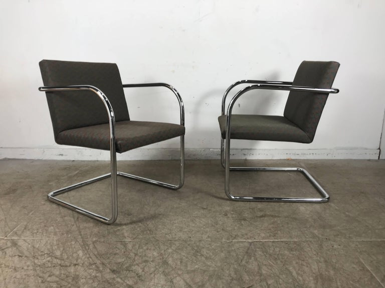 Set of Eight Chrome Brno Chairs by Mies Van Der Rohe for Thonet For Sale 2