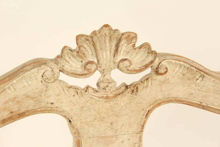 Set of 8 Continental Painted Louis XV Style Dining Room Chairs For Sale 3