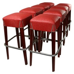 Set of 8 Counter Bar Stools by Chairmaster