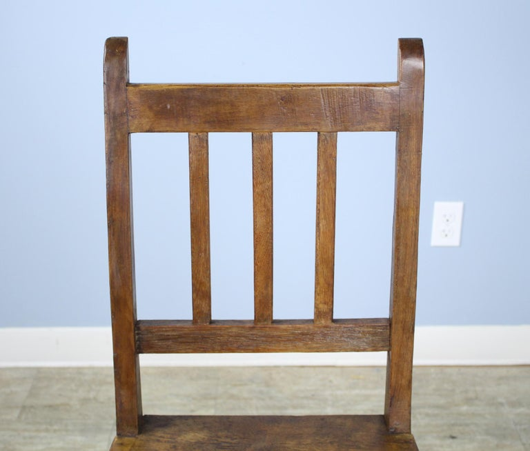 Set of 8 Country Oak Dining Chairs In Good Condition For Sale In Port Chester, NY