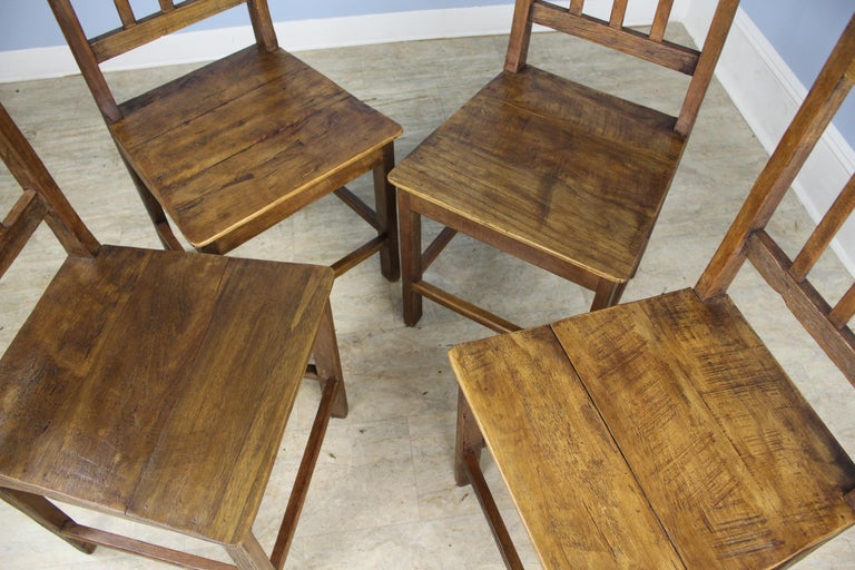 Set of 8 Country Oak Dining Chairs For Sale 1
