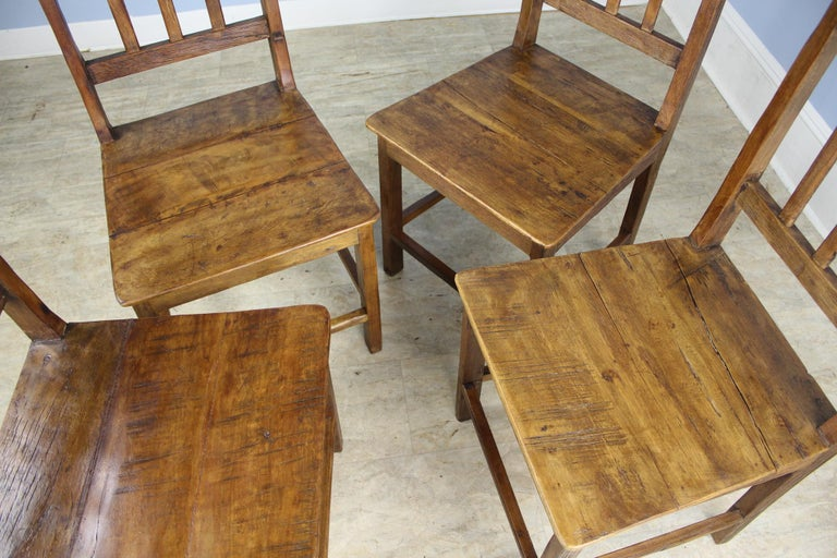 Set of 8 Country Oak Dining Chairs For Sale 2
