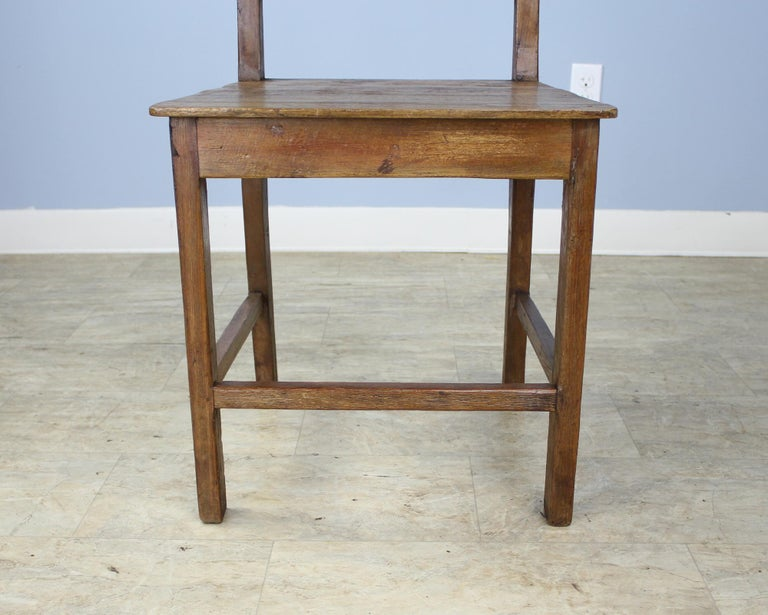 Set of 8 Country Oak Dining Chairs For Sale 4