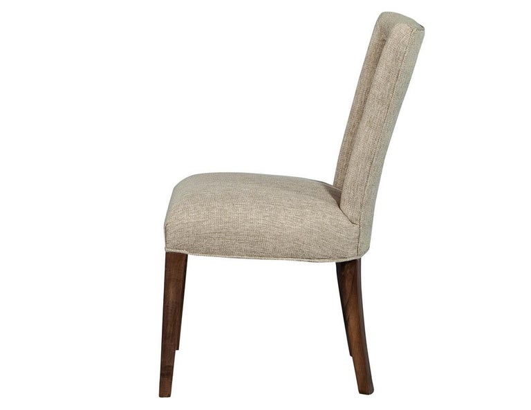 Set of 8 Custom Textured Dining Chairs by Carrocel For Sale 3