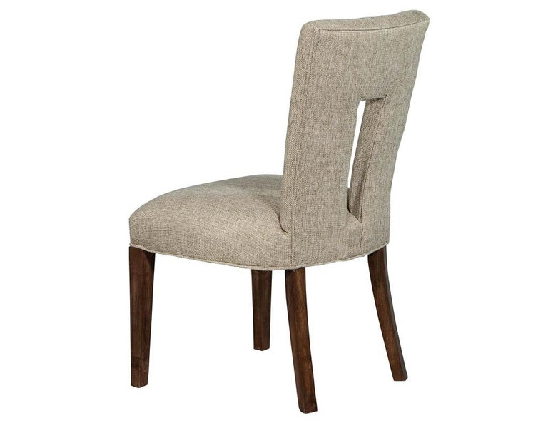Set of 8 Custom Textured Dining Chairs by Carrocel For Sale 4