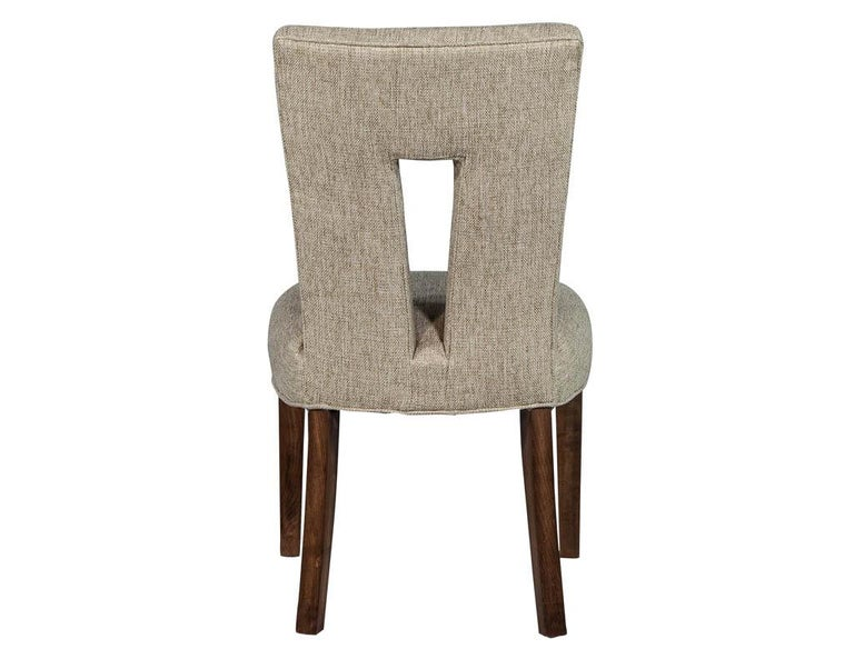 Set of 8 Custom Textured Dining Chairs by Carrocel For Sale 5