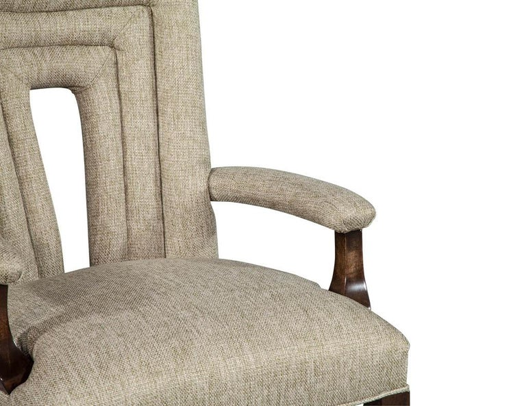 Set of 8 Custom Textured Dining Chairs by Carrocel For Sale 6