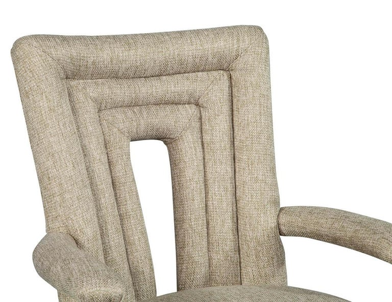 Set of 8 Custom Textured Dining Chairs by Carrocel For Sale 7