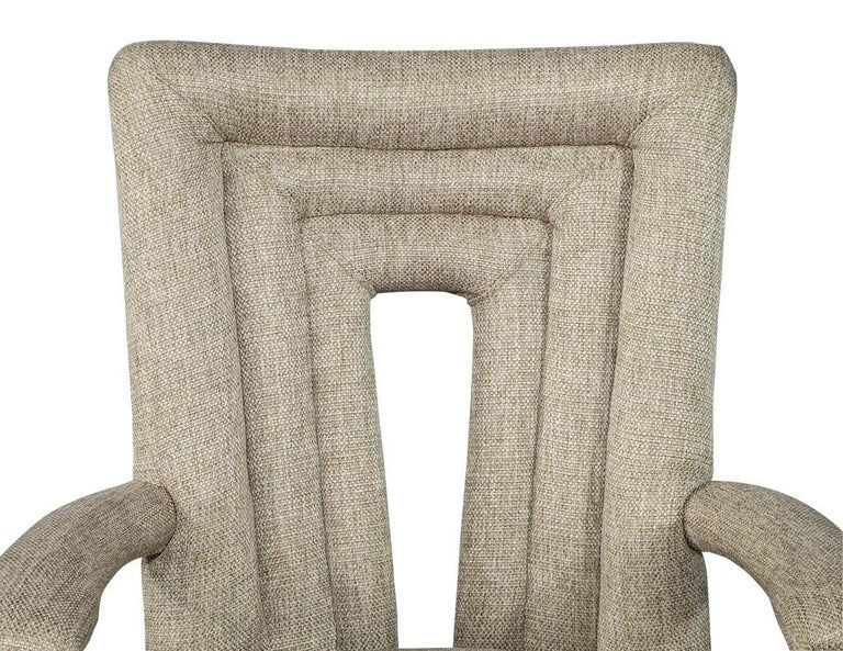 Set of 8 Custom Textured Dining Chairs by Carrocel For Sale 8