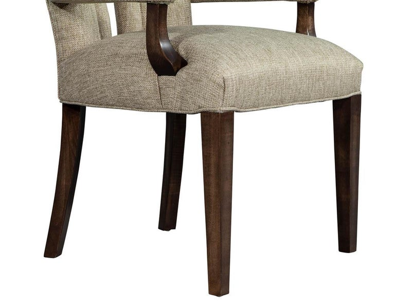 Set of 8 Custom Textured Dining Chairs by Carrocel For Sale 10