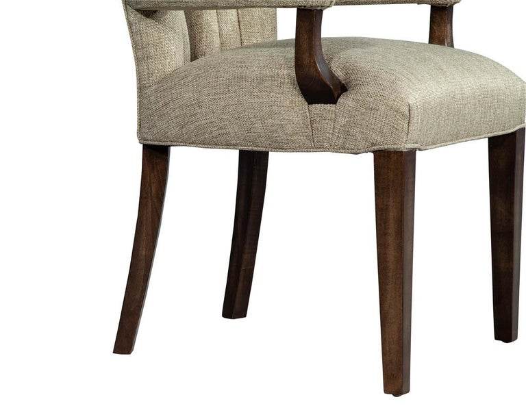 Set of 8 Custom Textured Dining Chairs by Carrocel For Sale 11