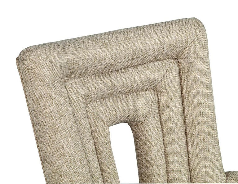 Set of 8 Custom Textured Dining Chairs by Carrocel For Sale 12