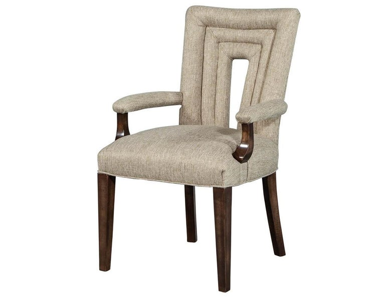 Modern Set of 8 Custom Textured Dining Chairs by Carrocel For Sale