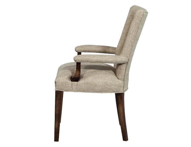 American Set of 8 Custom Textured Dining Chairs by Carrocel For Sale