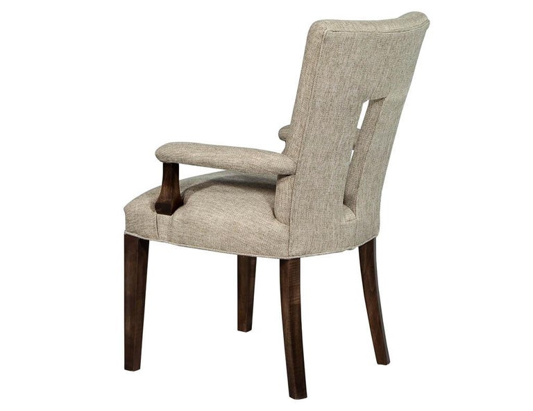 Set of 8 Custom Textured Dining Chairs by Carrocel In New Condition For Sale In North York, ON