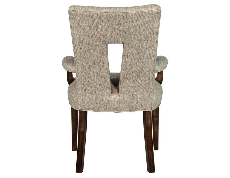 Contemporary Set of 8 Custom Textured Dining Chairs by Carrocel For Sale