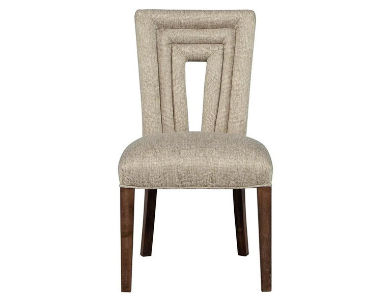 Set of 8 Custom Textured Dining Chairs by Carrocel For Sale 1
