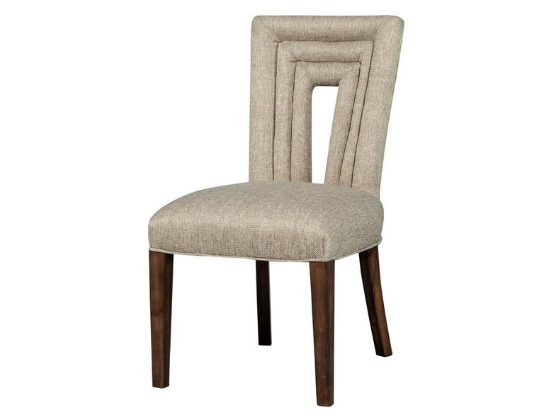 Set of 8 Custom Textured Dining Chairs by Carrocel For Sale 2