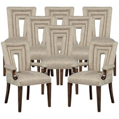 Set of 8 Custom Textured Dining Chairs by Carrocel