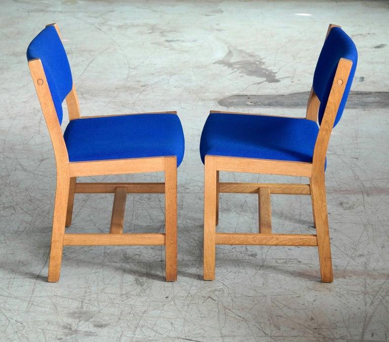 Late 20th Century Set of 8 Danish Hans Wegner Oak Dining Chairs for GETAMA For Sale