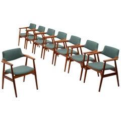 Set of 8 Danish Midcentury Teak Dining Chairs by Svend Aage Eriksen
