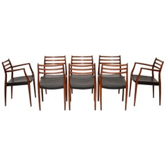 Set of 8 Danish Model 78 Dining Chairs by Niels Moller