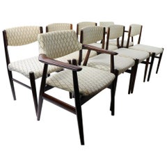 Set of 8 Danish Modern Dining Chairs in Rosewood by Grete Jalk