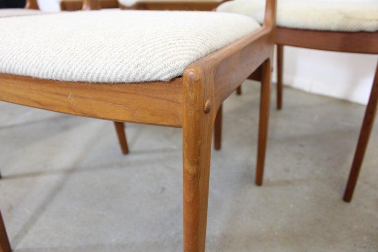 Set of 8 Danish Modern Johannes Andersen Uldum Mobelfrabrik Teak Dining Chairs 5