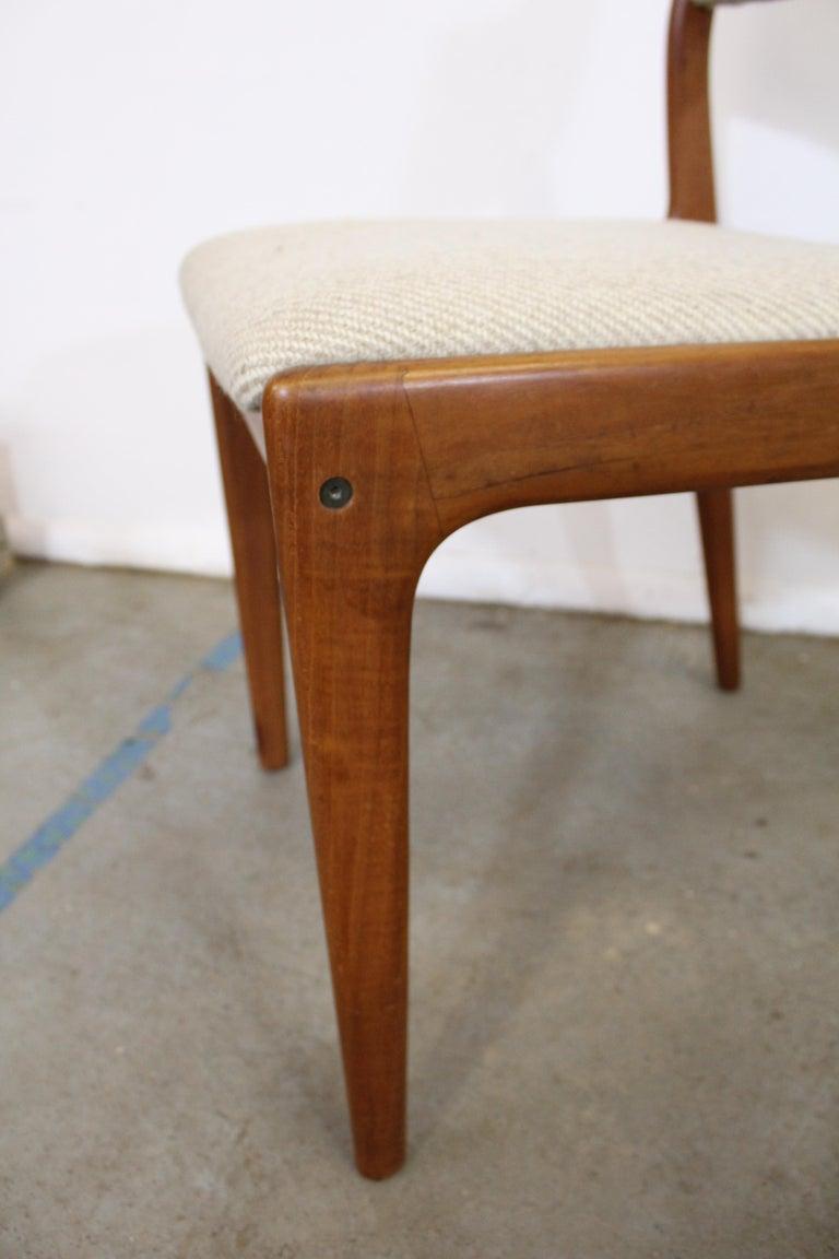 Set of 8 Danish Modern Johannes Andersen Uldum Mobelfrabrik Teak Dining Chairs 6