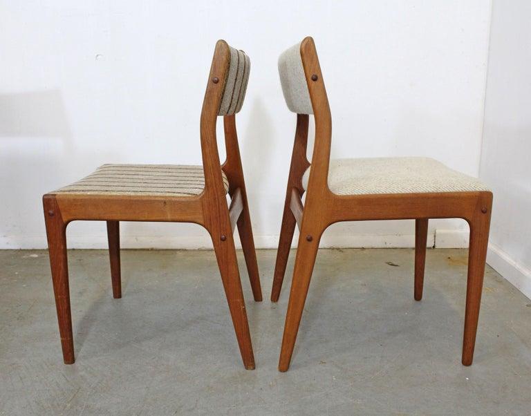 Scandinavian Modern Set of 8 Danish Modern Johannes Andersen Uldum Mobelfrabrik Teak Dining Chairs