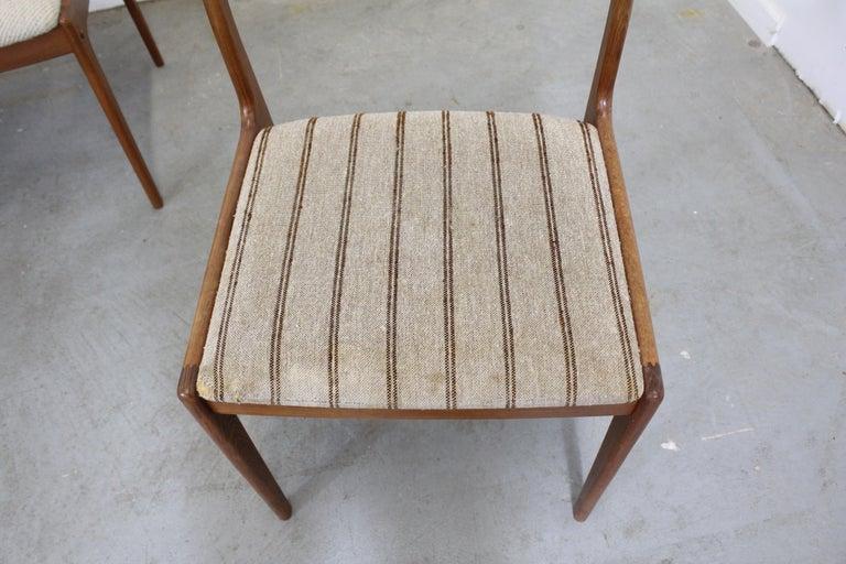 Set of 8 Danish Modern Johannes Andersen Uldum Mobelfrabrik Teak Dining Chairs In Fair Condition In Wilmington, DE