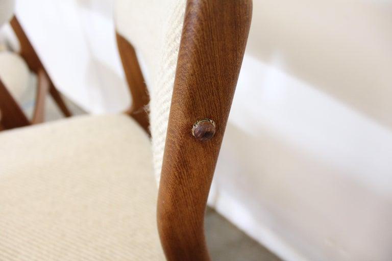 Set of 8 Danish Modern Johannes Andersen Uldum Mobelfrabrik Teak Dining Chairs 1