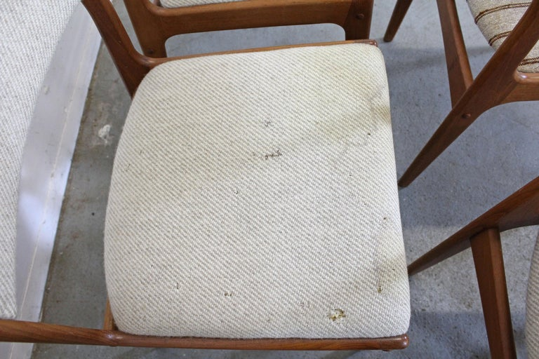 Set of 8 Danish Modern Johannes Andersen Uldum Mobelfrabrik Teak Dining Chairs 2