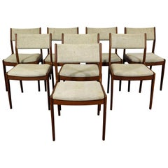Set of 8 Danish Modern Teak Dining Chairs